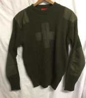 ANDREW CHRISTAIN Military Style Khaki Jumper Army Commando Pullover Crew Neck M