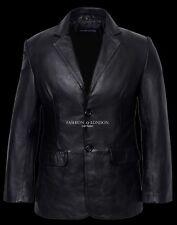 Hombre RICHMOND Negro Elegante Clásico 2 Botón Piel De Cordero Chaqueta cuero