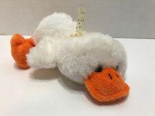 "Homerbest White Duck Plush 9"" Stuffed Animal Easter Bird Yellow Ribbon"