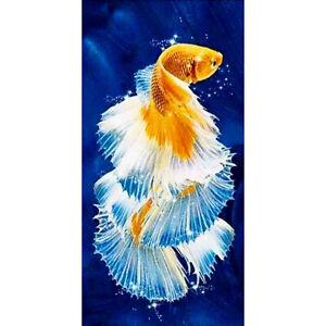 5D Diamond Painting DIY Fish Full Round Drill Embroidery Cross Stitch Kit