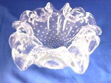 Vintage Murano Bullicante Bowl Ashtray Clear Glass Biomorphic Controlled Bubbles