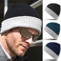 Result Winter Essentials Double Layer Knitted Hat RC378X -Unisex Warm Beanie Cap