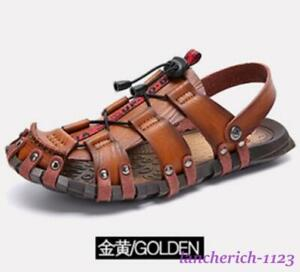 Men's Beach Hollow Out Sandals Shoes Hiking Outdoor Casual Flat Oversize Comfort