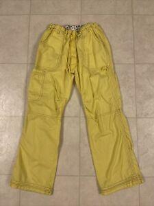 Koi Lindsey Cargo Scrub Pants Yellow Sz Small Petite