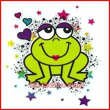 PRINCE PRINCESS FROG - DIY Iron On Glitter T-Shirt Heat Transfer - NEW