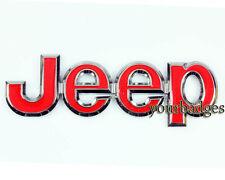 Chrome Metal Red JEEP Car badge Grand Cherokee Compass