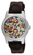 WENGER Field Classic Colour Brown Camo Gents Watch 01.0441.109 - RRP £99 - NEW