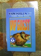 GENUINE Van Halen 3 World Tour VIP GUEST Laminated Backstage Pass FOIL EMBOSSED