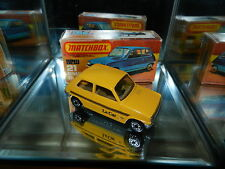 Matchbox Lesney Superfast 21 Renault 5TL Le Car 1978 Yellow England Mint in Box