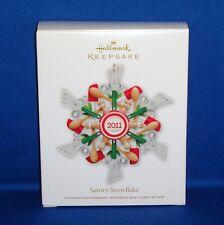 Hallmark - 2011 - Savory Snowflake - Cooking Keepsake Christmas Ornament - NEW