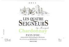 Etiquette de vin - Vin Pays d'Oc - Les Quatre Seigneurs - 2011