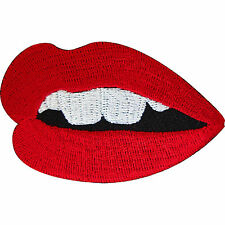 Embroidered Iron On Mouth Sexy Red Lips Patch Sew On Badge Embroidery Applique