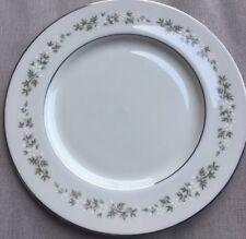 Lenox Brookdale Dinner Plate, White & Yellow Flowers Platinum Trim H500 Mint