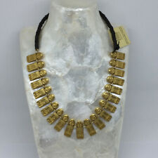 Choker Necklace From Bogota Colombia Inca Pre Colombian Replica Gold Plated