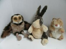New listing Lot 3 Folkmanis Hand Puppets Burrowing Owl Hamster Bunny Rabbit Plush Toy