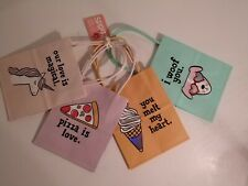 Small Paper Gift Bags Cute Assortment Adorable Designs Pack of 4 New With Tags