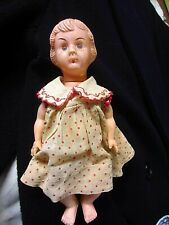 Vintage Girl Doll With Dress-Made in Hong Kong 7�