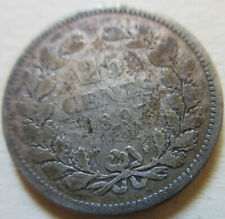 1897 Netherlands SILVER 25 CENT Coin.  (W198)