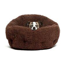 """Best Friends by Sheri Luxury 20"""" OrthoComfort Sherpa Deep Cuddler Pet Bed Brown"""