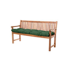 Green 3 Seater Bench Seat Cushion Waterproof Fabric Outdoor Garden Pad Tufted