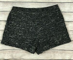 Old Navy Textured Black Shorts Sz 10 High Waist Lined Woven Side Zip Dressy O48