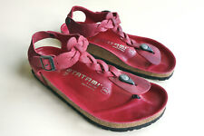 TATAMI BIRKENSTOCK braided Waxy-Leather Sandals KAIRO Rosewine  EU40 US9-9.5 UK7