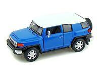 "Kinsmart Toyota FJ Cruiser SUV off road 1:36 scale 5"" diecast model car BLUE"
