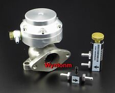 38MM 4-8 PSI Wastegate Turbo Stainless  MINI Dump Valve + MBC Anodized Silver II