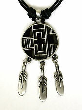 AMERICAN INDIAN PEWTER PENDANT MENS BOYS WOMENS GIRLS NECKLACE LP015