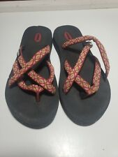 Teva Olowahu Mush Flip Flops Sandals Women's Thongs Multiple Colors Used.