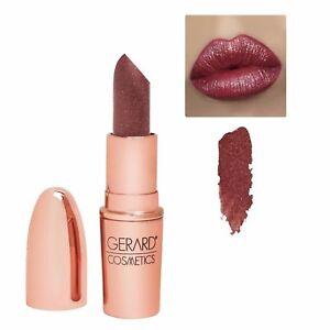 Gerard Cosmetics Glitter Lipstick  All Access Deep Burgundy Golden Reflects NIB