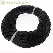 5M-100M Genuine Leather Thong Cord 1mm 1.5mm 2mm 3mm Black Brown High Quality