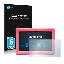 """6x Savvies Su75 Pellicole Protettiva Display per Contixo Kids 7"""" Tablet"""