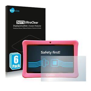 """6x Pellicola Protettiva per Contixo Kids 7"""" Tablet Protezione Proteggi"""