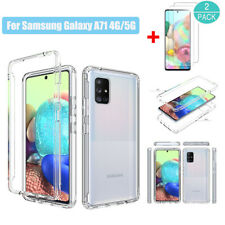 For Samsung Galaxy A71 4G 5G BUmper Rugged Clear TPU Case Cover+Screen Protector