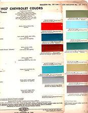 1957 CHEVROLET CORVETTE BEL AIR 150 210 NOMAD DELRAY 57 PAINT CHIPS DUPONT 2
