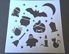Halloween a tema stencil card making SCRAPBOOKING AEROGRAFO VERNICIATURA Home Decor