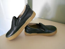 GAP Slip-On Sneakers Shoes Perf Black Faux Leather Toddler Boys Size 7
