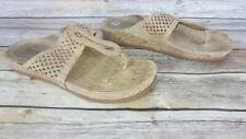 Bare Trap Sandals Slides Chinda Tan Vegan Suede Memory Foam Cork 9 1/2