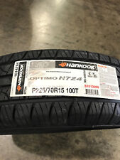 4 New 225 70 15 Hankook Optimo H724 Tires