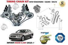 für INFINITI M30D 3.0DT V6 24V 2993 ccm 2010- > Steuerkette Spannrolle Set +