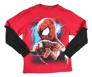 Boys Large 10-12 The Amazing Spider-Man 2 Long Sleeved Shirt Preowned