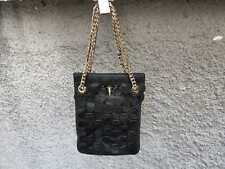 Givenchy Shark Tooth Black Leather Gold Chain Rottweiler Small Tote Handbag Bag