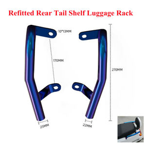 Motorcycle Rear Shelf Refit Box Tail Fin Luggage Strong Structure Support Rack