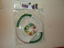 "BRAND NEW ""PETSHOPPE"" DOG CANVAS FLYING 8"" DISC w/ ROPE TOY.."