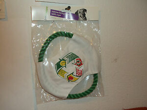 """BRAND NEW """"PETSHOPPE"""" DOG CANVAS FLYING 8"""" DISC w/ ROPE TOY.."""