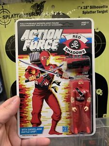 Gi Joe Action Force UK Cobra Storm Shadow 1985 Red Shadows Mint Lot Beautiful V1
