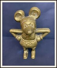 ⭐ Disney Mickey Mouse French cast BRASS bank - 1930's - DISNEYANA.IT ⭐