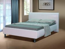 Faux Leather Memory Foam Firm Beds with Mattresses