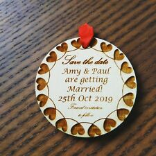 X12 Personalised Favours Wedding Save the Date Fridge Magnets - Mini Invitations
